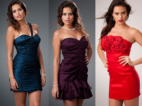 Вечірні короткі сукні фото