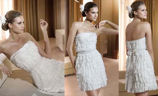 Короткі весільні сукні фото