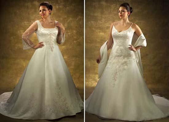 Весільні сукні для повних 2011 – Любов + Мода 8fa280cfb5eed