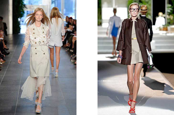 Модні плащі весна-літо 2012