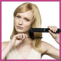 Як випрямити волосся щипцями
