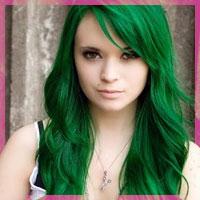 Як пофарбувати волосся в зелений колір