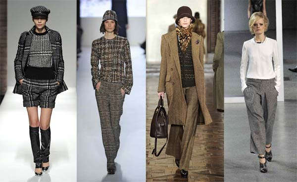 Твід - модний матеріал зима 2013