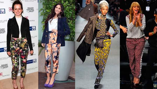 Модні штани з яскравим принтом 2013