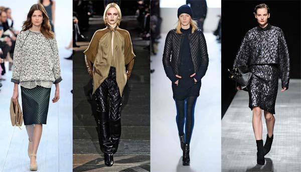 Стьобані тканини зима 2013 - модний тренд сезону