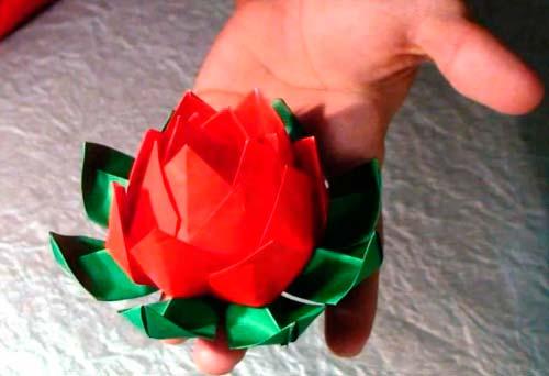 Цветы лотоса своими руками из бумаги