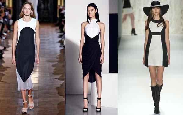 Чорно біле плаття весна літо 2013 фото