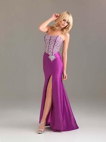 Фіолетові сукні для випускного вечора 2013