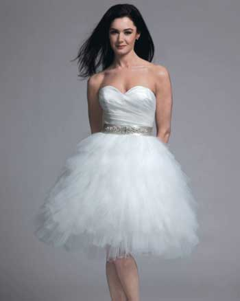 До короткої весільної сукні в якості