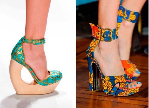 Модні босоніжки, туфлі і ботильйони весна-літо 2013