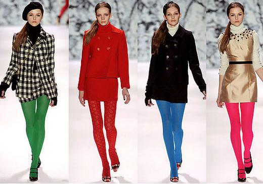 Модні зимові колготки 2013 фото