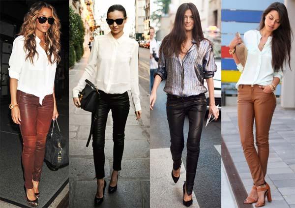 З чим носити жіночі шкіряні штани (фото) – Любов + Мода 4b247a4ba2b21