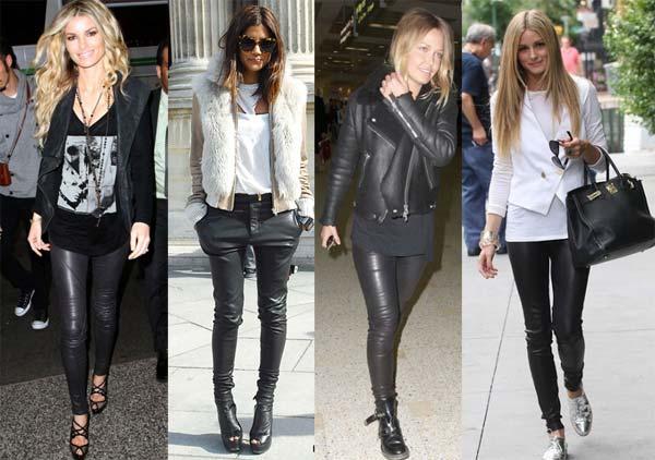 З чим носити жіночі шкіряні штани (фото). У холодну пору року ... a2508ed3e435d