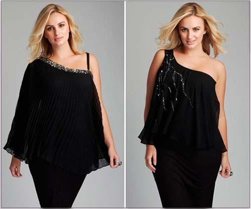 Модні сукні для повних жінок 2013