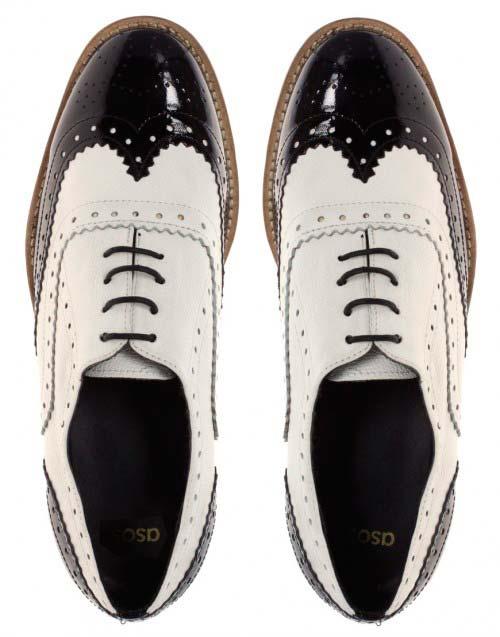 Чёрно-белые ботинки