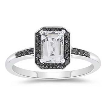 Персні з чорним алмазом