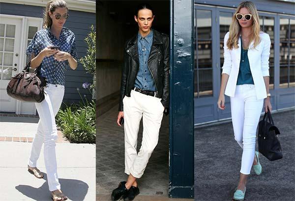 З чим носити білі жіночі джинси (фото) – Любов + Мода 2b09c01067c02