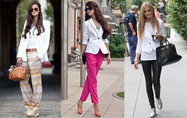 Як носити білий жіночий піджак (фото) – Любов + Мода cb1f650125118