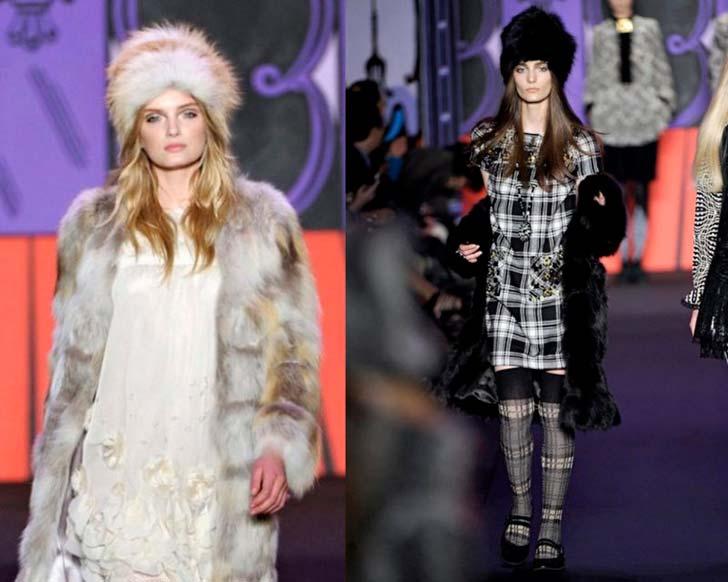 Модні хутряні шапки осінь-зима 2013-2014 фото