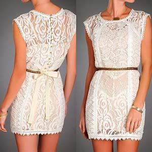 З чим носити мереживне плаття?