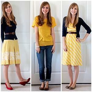 Які кольори в одязі поєднуються з жовтим?