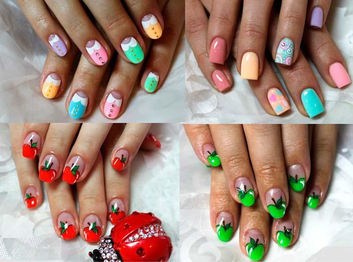 Дизайн летних гелевых ногтей
