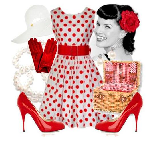 Ретро -стиль: плаття в горошок