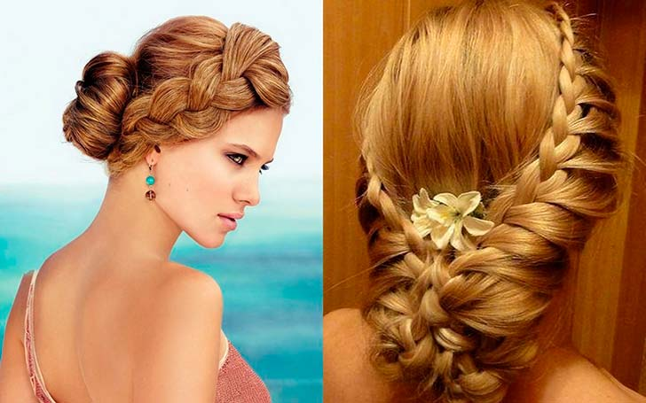 вечерние укладки фото на средние волосы