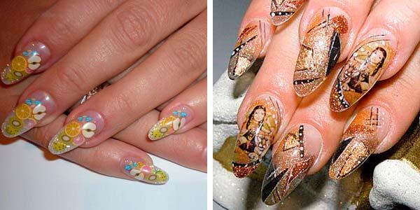 Дизайн нарощених нігтів 2013  фото