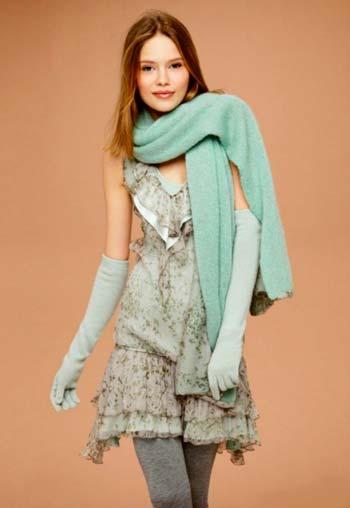 Як носити взимку літні сукні?