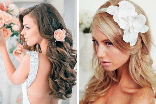 Весільні зачіски з розпущеним волоссям