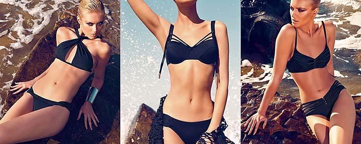 Красиві чорні купальники 2014