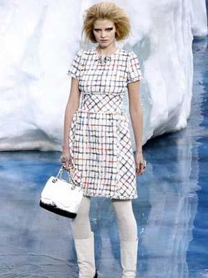 Модні сукні в клітку 2014