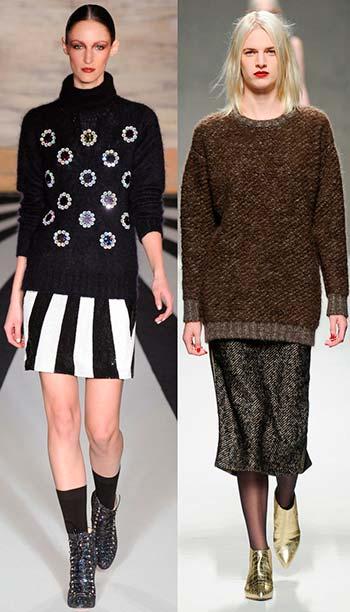 15 окт 2014 Модные вязаные кофты и свитера зима 2015 Свитера идеально сочетаются со многими вещами из женского