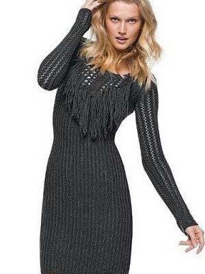 Модні в'язані плаття 2014