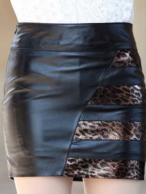 Модні шкіряні спідниці 2014
