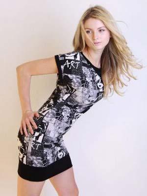 Модні трикотажні сукні 2014