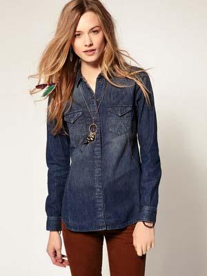 Жіночі джинсові сорочки 2014