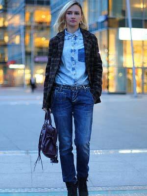 Жіночі джинсові сорочки 2014 фото