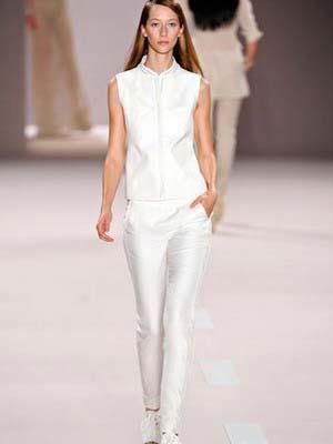 Жіночі білі брюки 2014