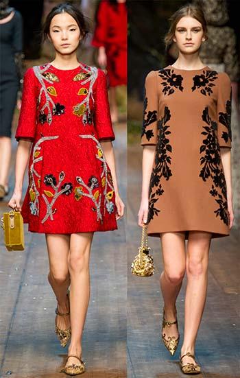 Модні короткі сукні осінь-зима 2014-2015