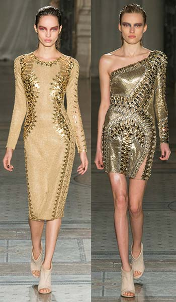 Модні золоті сукні 2015