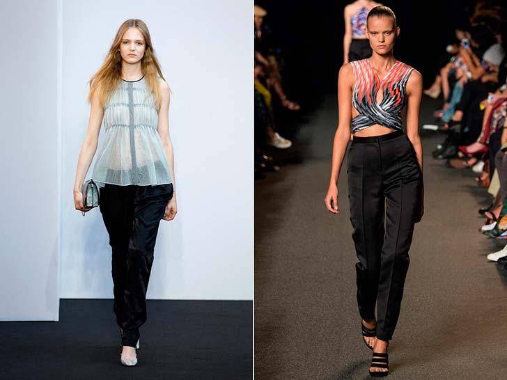 Мода на стильные женские брюки в 2015 годуВ тренде - контрастное сочетания стилей и объемов, которое мода на женские