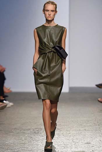 Красиві шкіряні сукні 2015