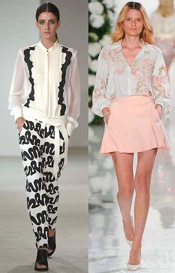Модні жіночі блузки літо 2015