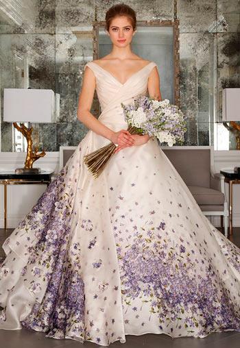 Кольорові весільні сукні 2016-2017