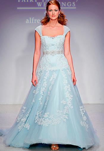Сині та блакитні весільні сукні 2016