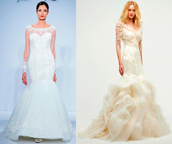 Весільні сукні з довгим рукавом 2017